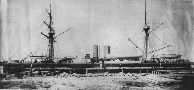 北洋軍定遠艦。(網上圖片)