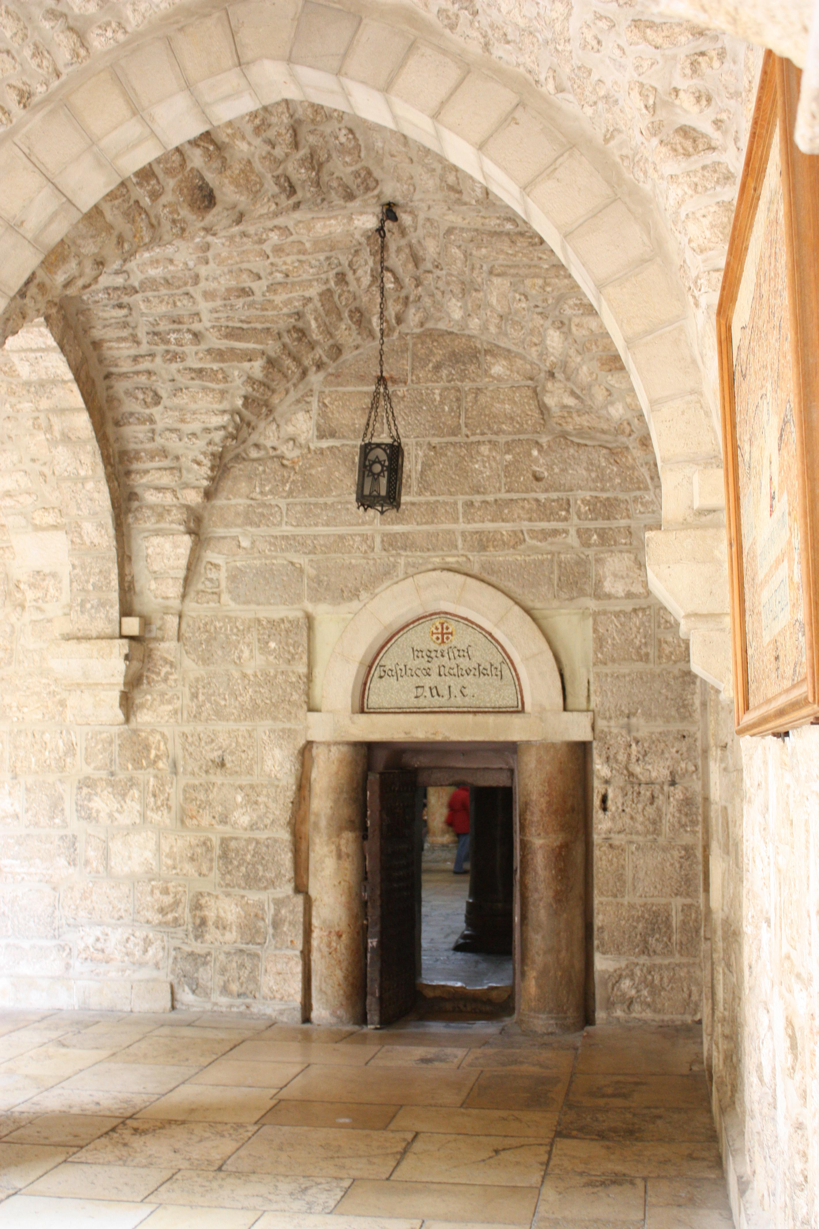 File:Church Of Saint Catherine Small Door, Bethlehem