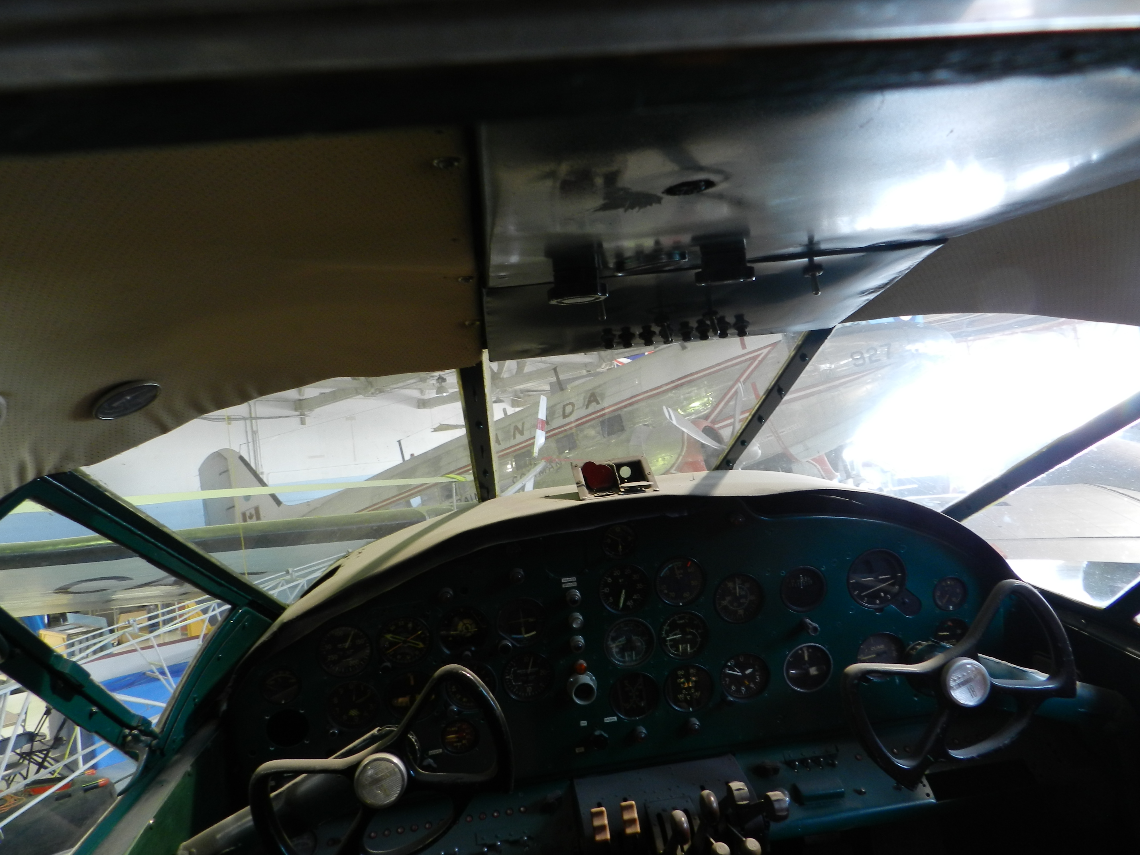 file cockpit of beech d18s 3nm c45 expeditor at the alberta