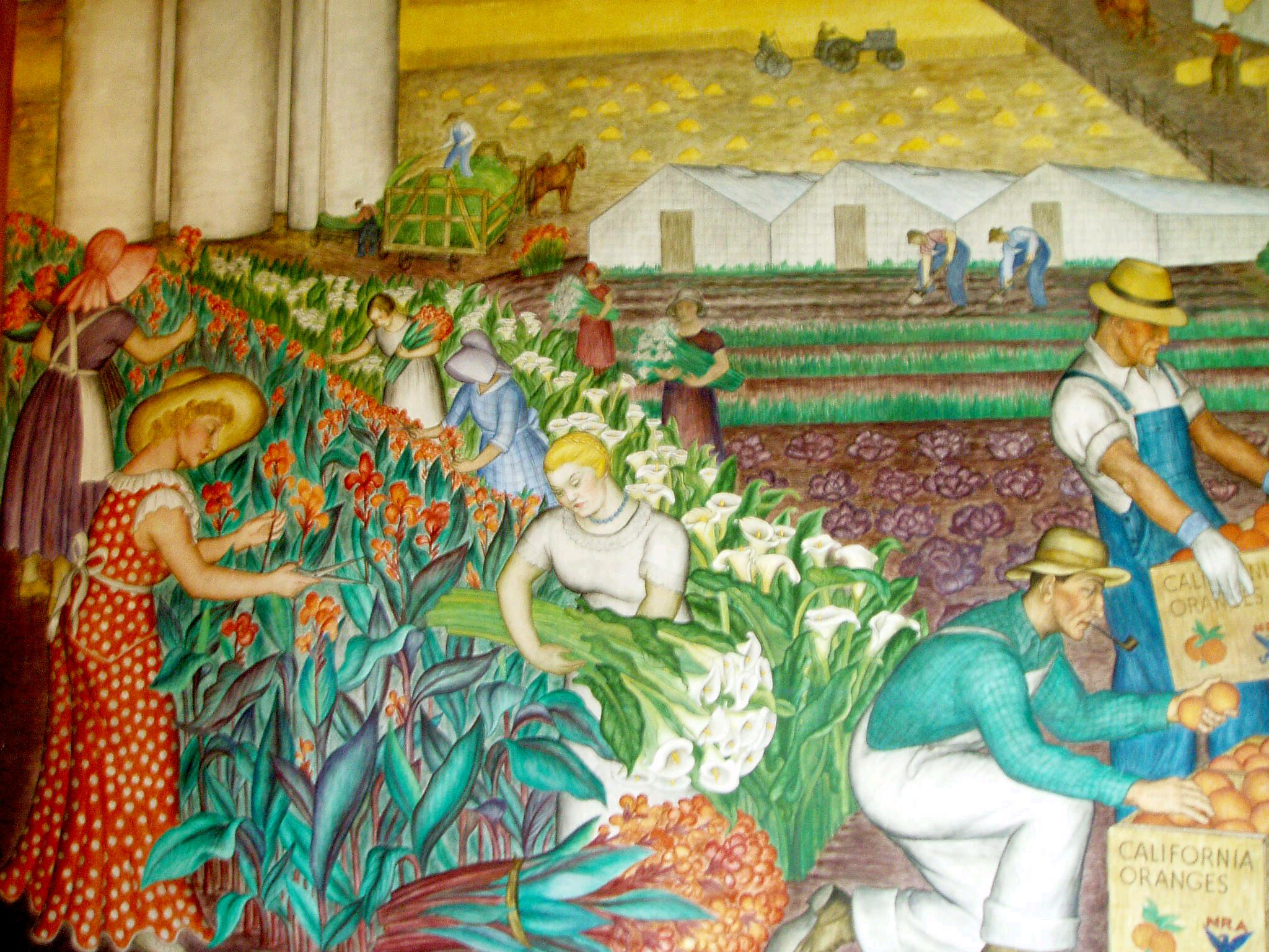File coit mural wikimedia commons for Coit tower mural