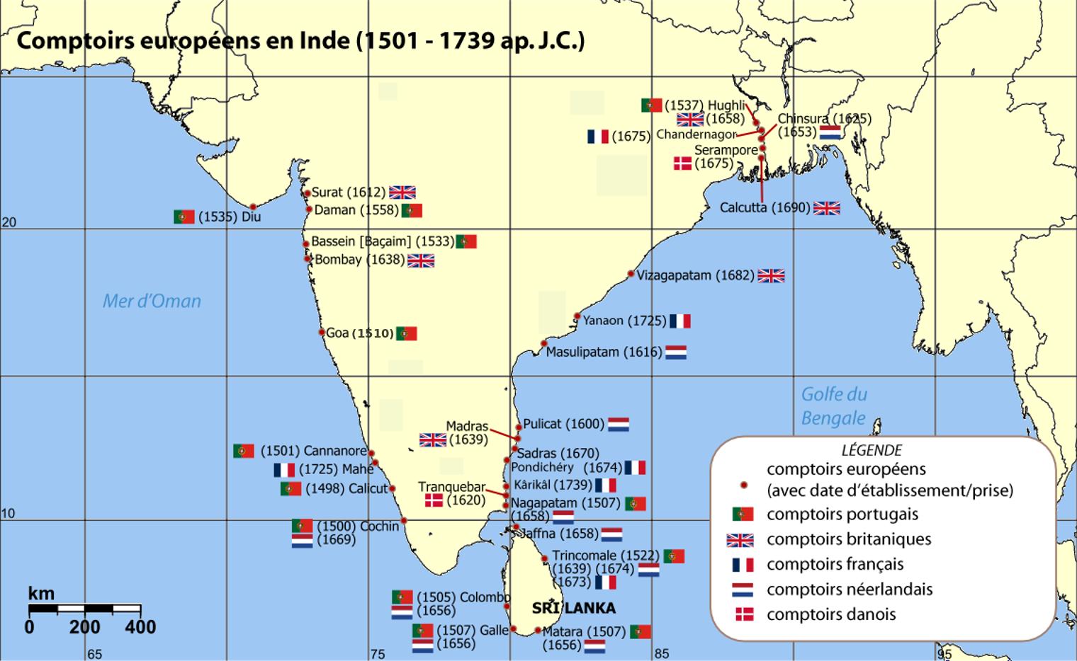 Pondichéry Des Comptoirs Français à Linde Daujourdhui 1664