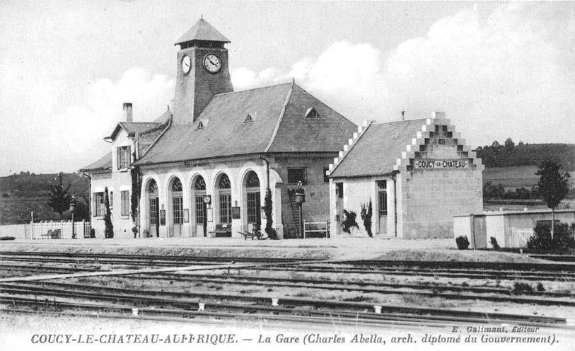 Coucy-le-Château (Aisne, France) old trains station