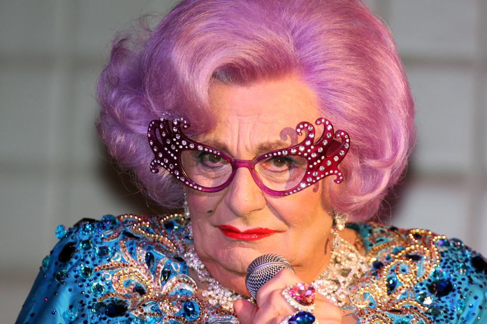 Dame Edna Wig And Glasses