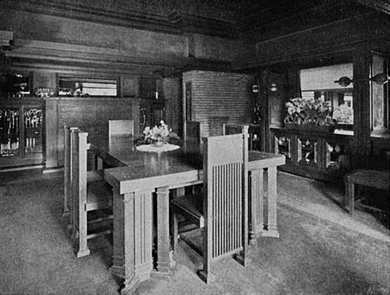 File darwin d martin house dining wikimedia for Dining room d house of commons