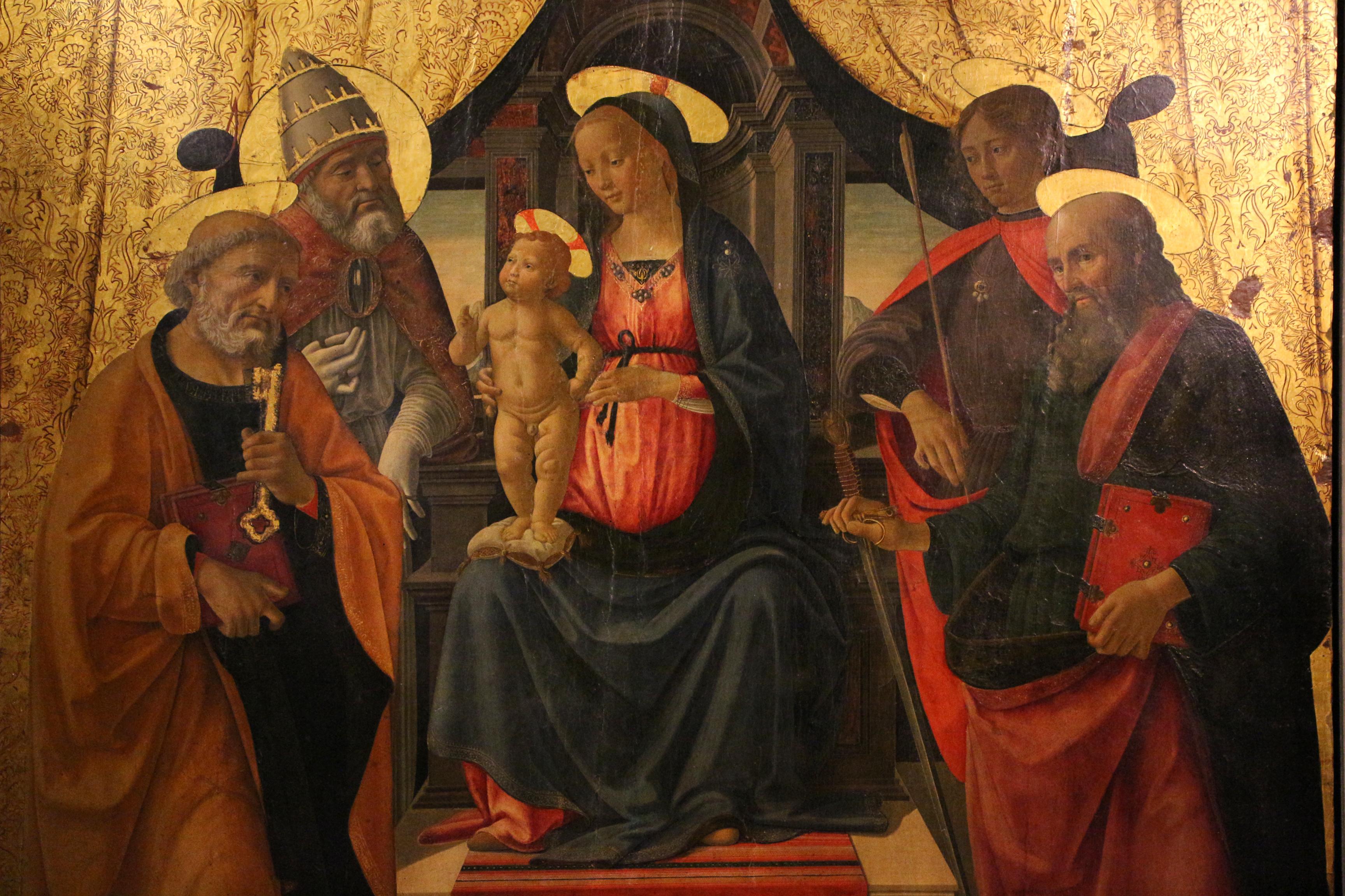 File:Domenico ghirlandaio, sacra conversazione di lucca, 1479, 03.JPG