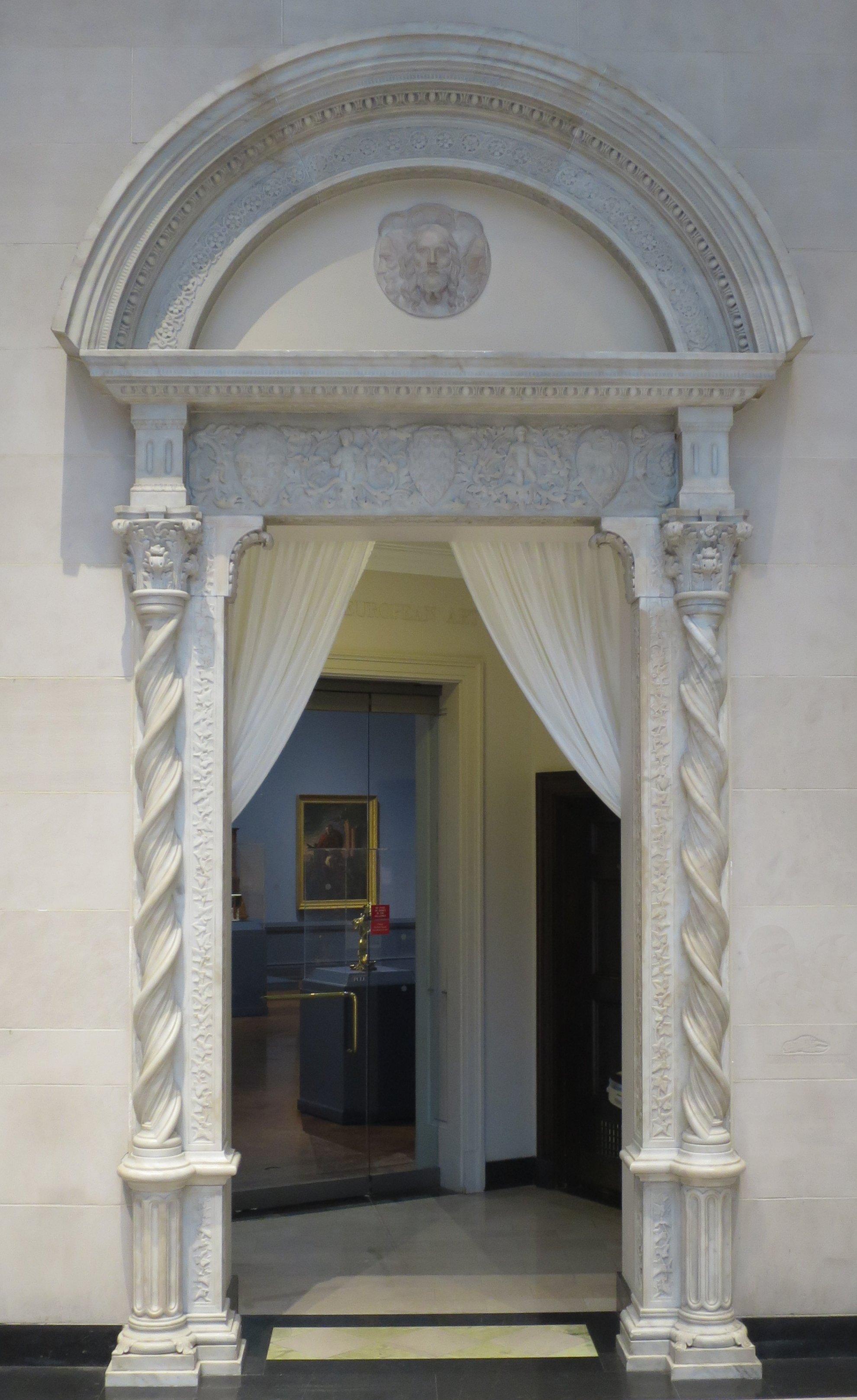File:Door frame by Louis J. P. Lott, c. 1930, Dayton Art Institute ...