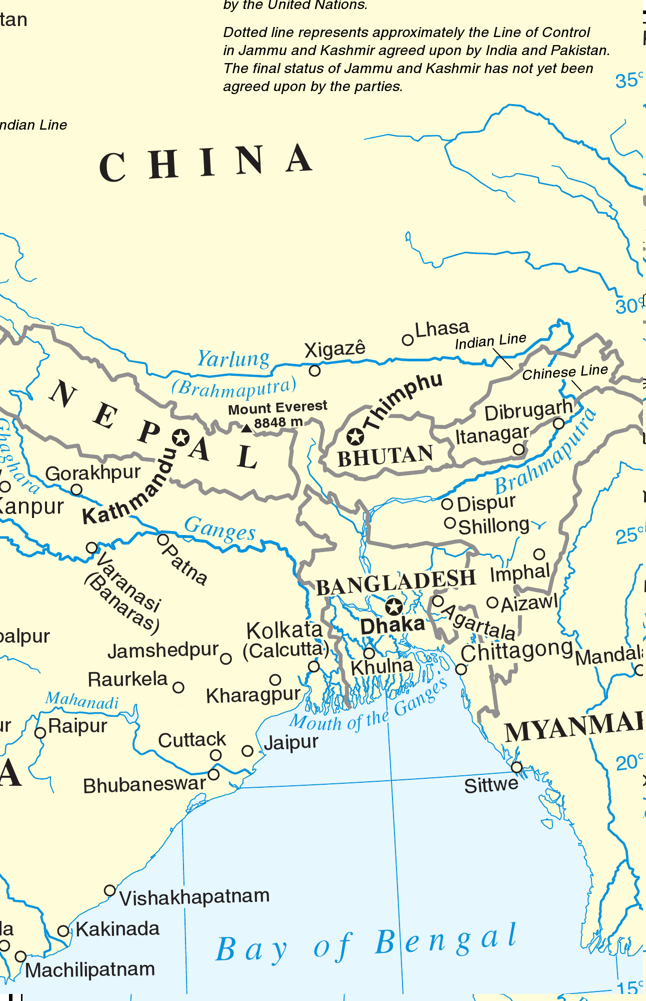 Map Of Asia Bhutan.Eastern South Asia Wikipedia