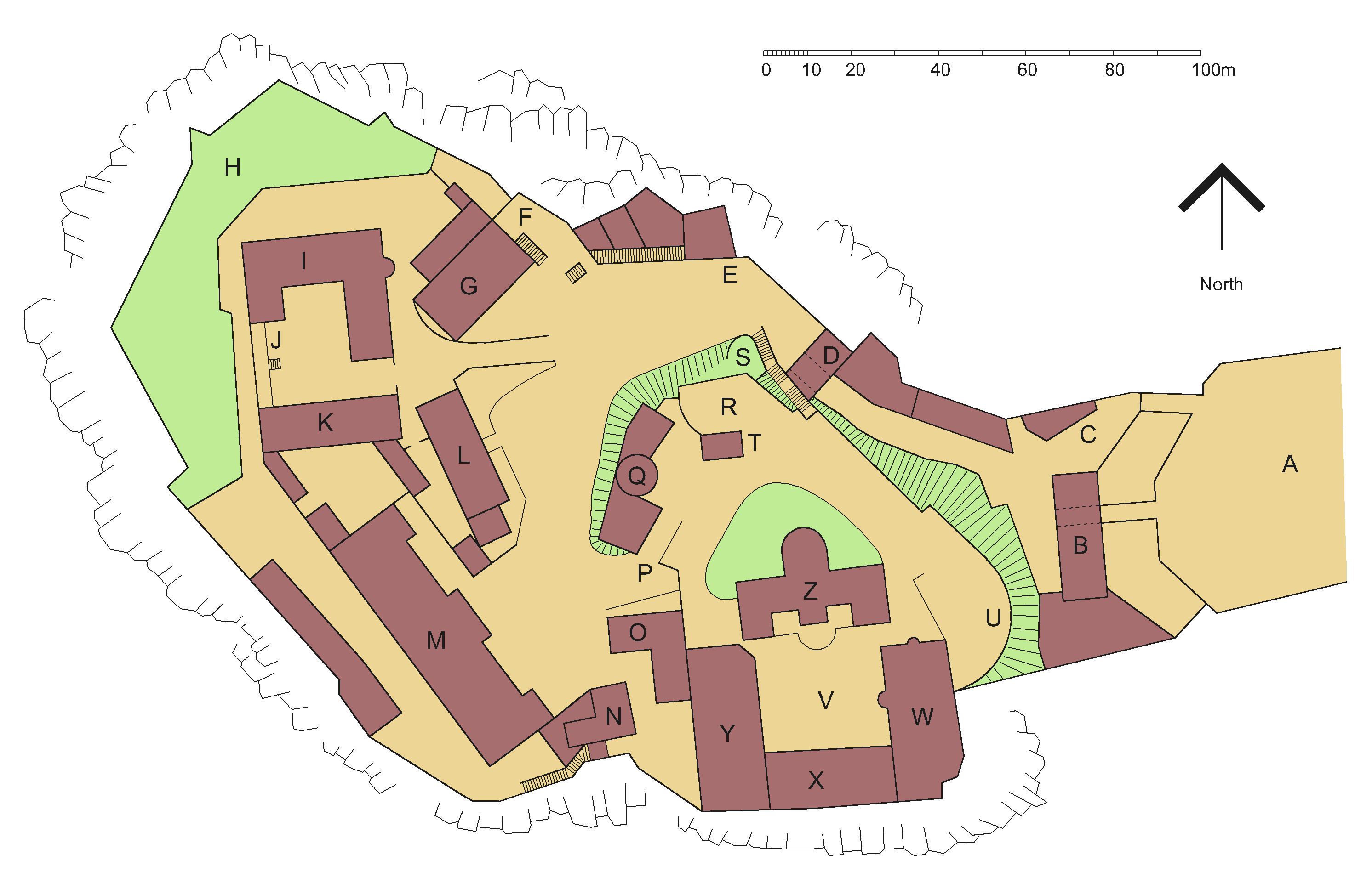 FileEdinburgh Castle plan colouredpng Wikimedia Commons