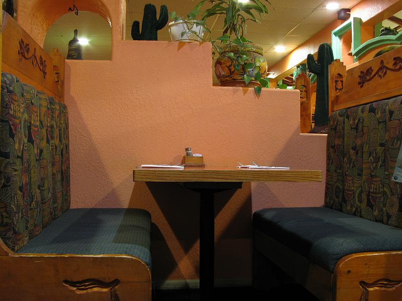 File Empty Dining Booth In A Mexican Restaurant In Utah Jpg