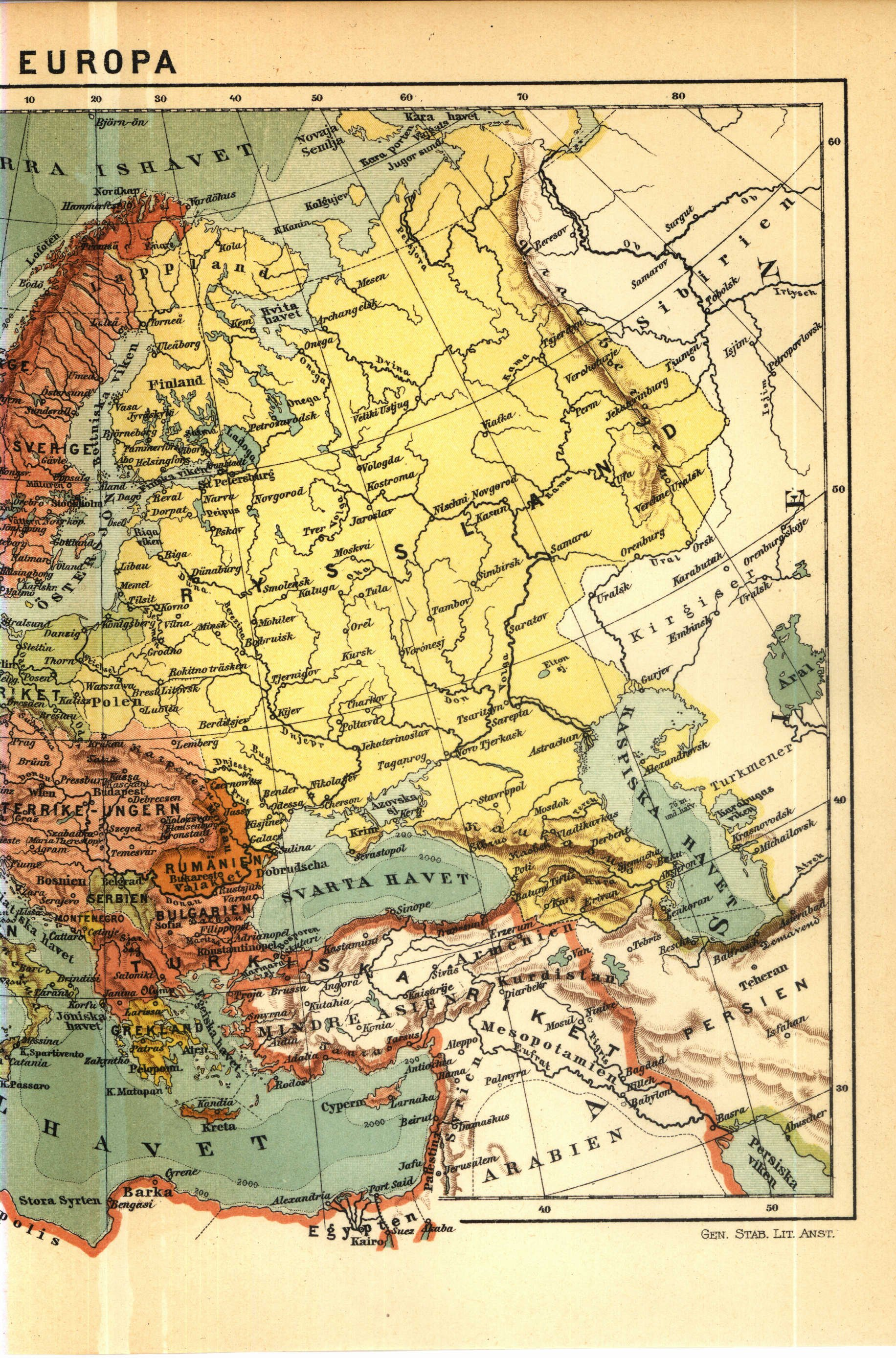 Europe Maps Perry Castaneda Map Collection Ut Library Online