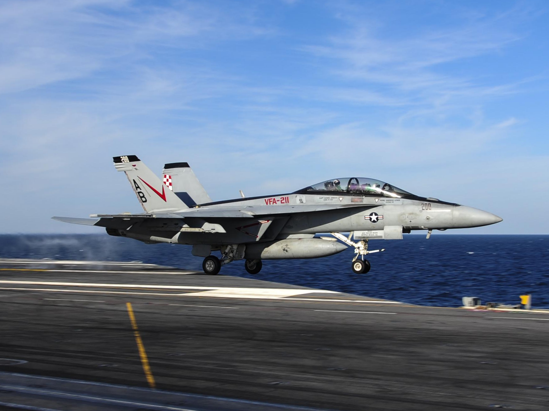 File:F-18F of VFA-211 is launched from USS Theodore ... Theodore Roosevelt