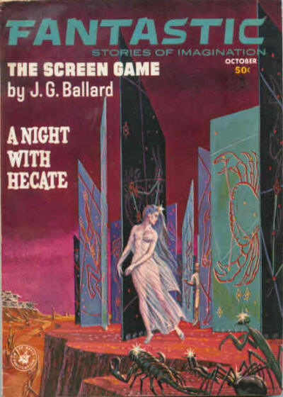 "Another Emshwiller cover illustrating the Vermilion Sands story ""The Screen Game"" (1963). Fantastic 196310.jpg"