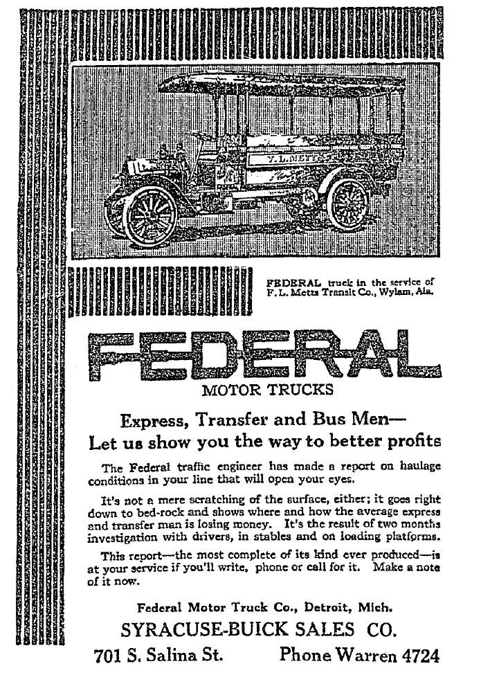 Defunct American Car Companies Federal Motor Truck Company - Wikipedia