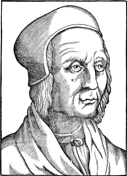 Woodcut of Filippo Decio from ''Pauli Iovii Novocomensis episcopi Nucerini Vitae illustrium virorum: tomis duobus comprehensae, & proprijs imaginibus illustratae'' by [[Paolo Giovio]]