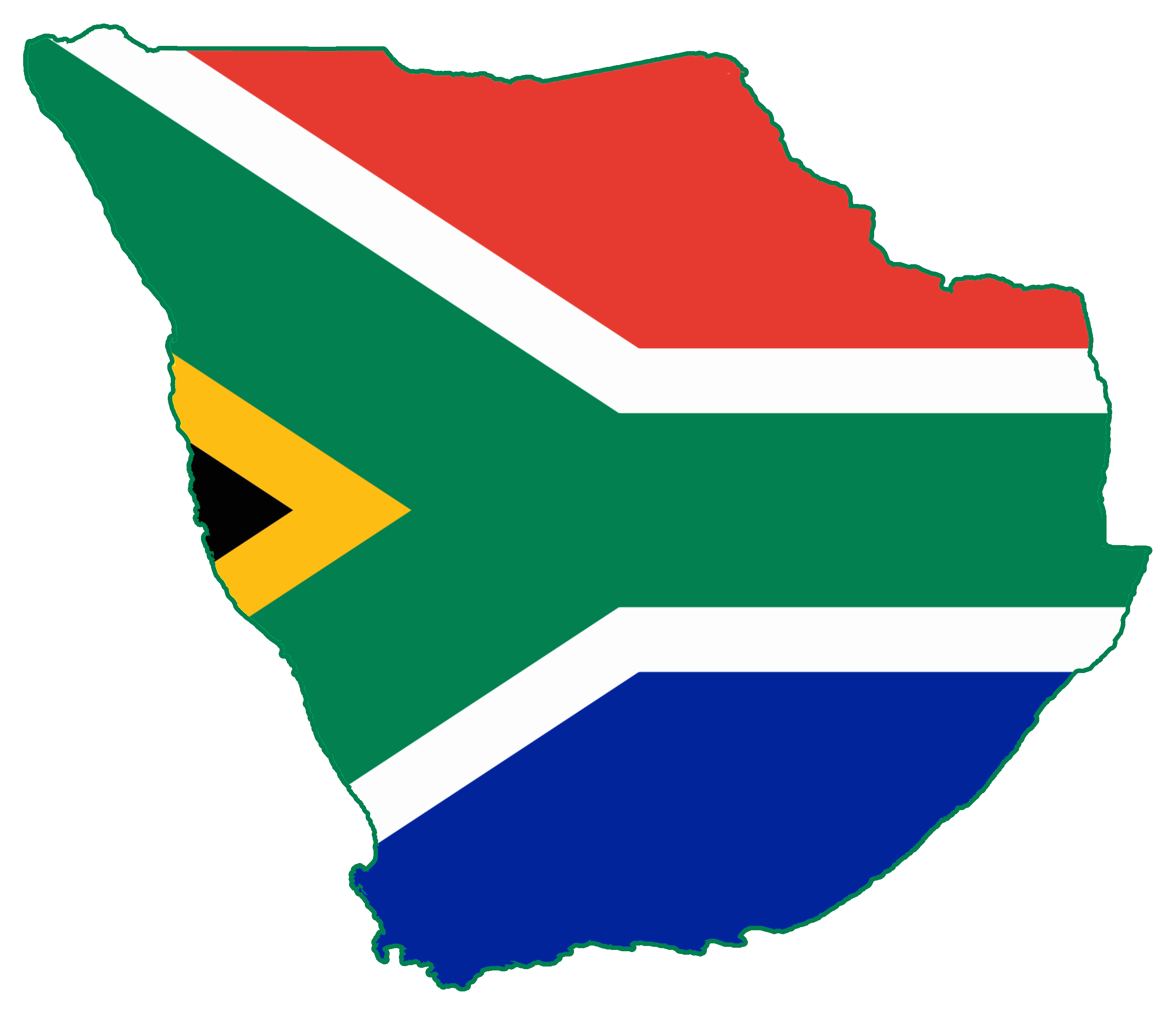 Flag Map Of GREATER South Africa Empire When Southafrica - South africa map