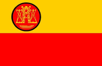 Historical flag of the Memelland from 1919 to 1924 and de facto until 1939. Flag of Memelland.png