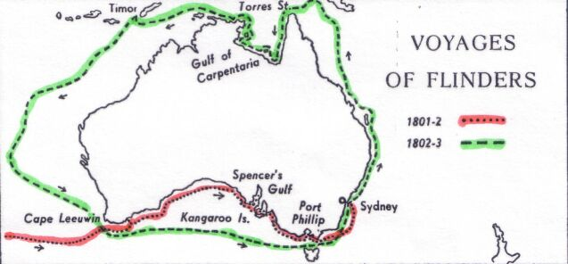 Early Voyages Of Exploration Interactive Map Through: File:Flinders-map From Project Gutenberg.jpg