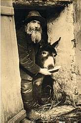 Le père Frédé et son âne Lolo, alias Boronali
