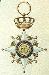 Getekende achterzijde van het Ridderkruis van de Orde van de Unie