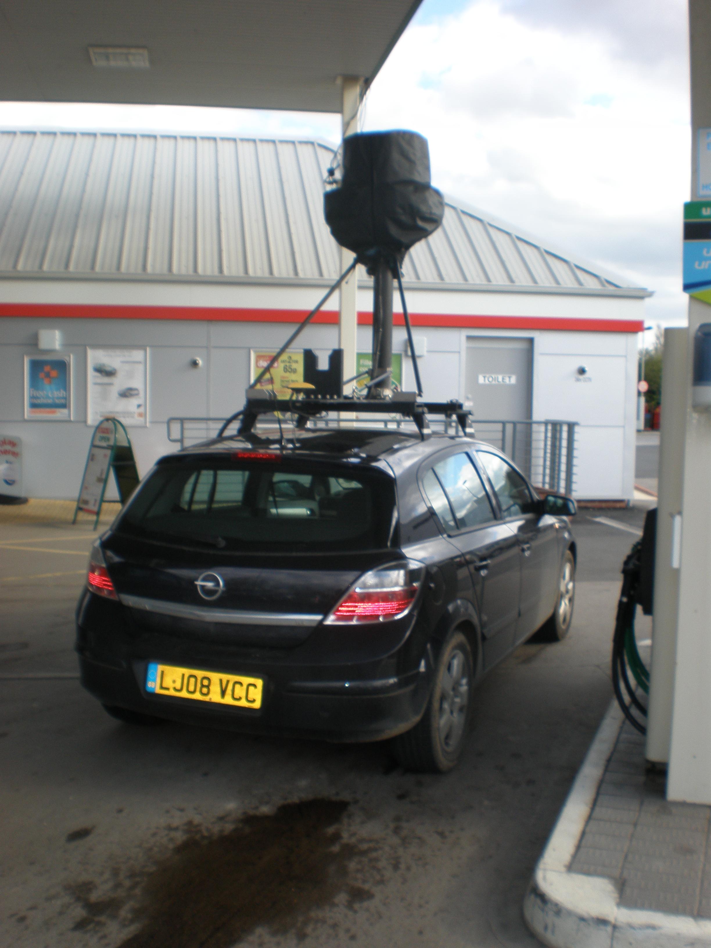 License Plate Camera >> File:Google Street View Car near Howden, UK 2.JPG - Wikimedia Commons