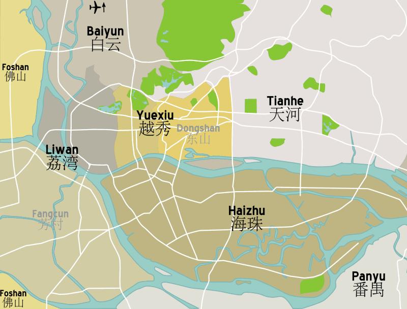 File:Guangzhou district map.png - Wikimedia Commons