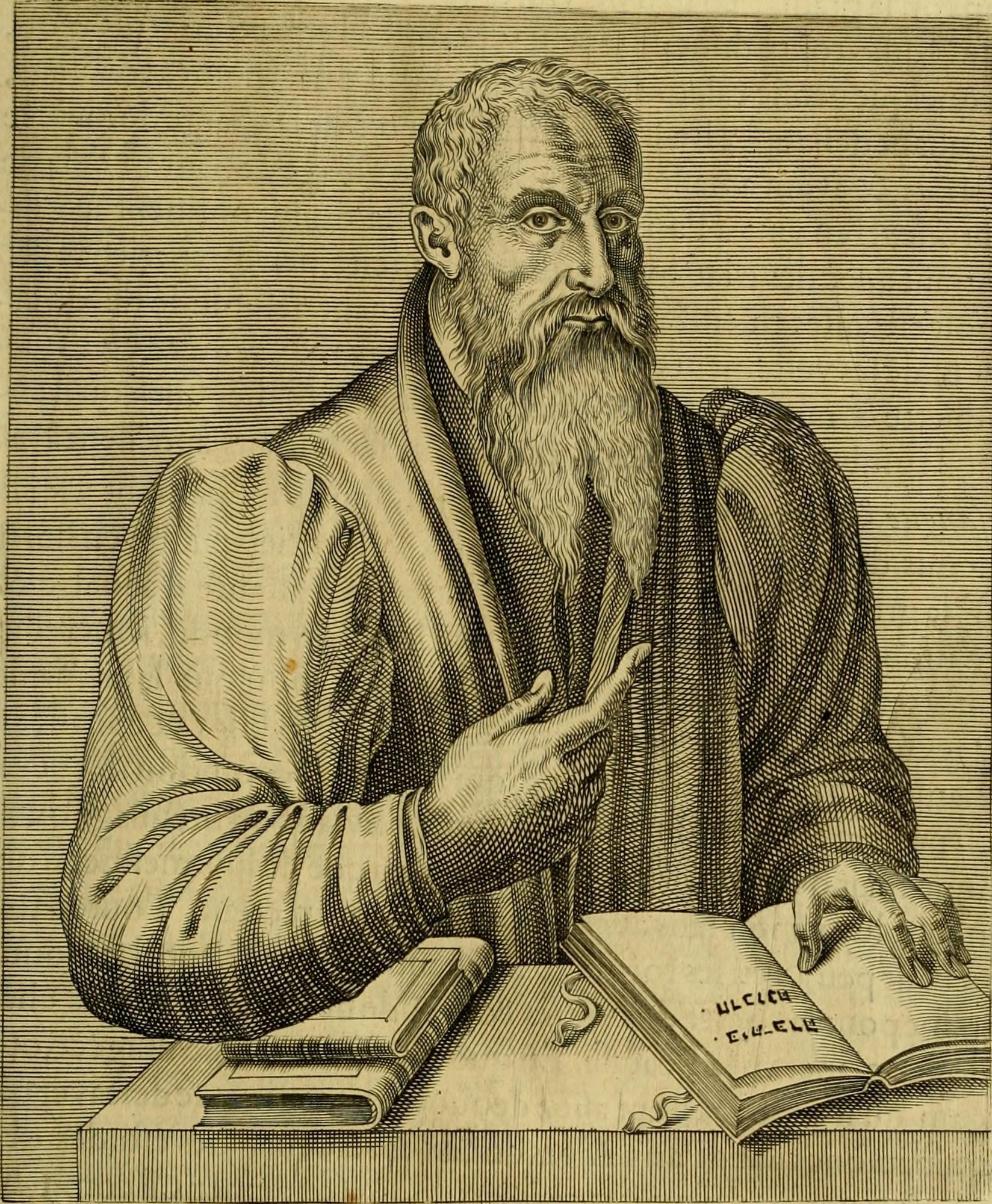 Postel as depicted in ''Les vrais pourtraits et vies des hommes illustres grecz, latins et payens'' (1584) by [[André Thevet