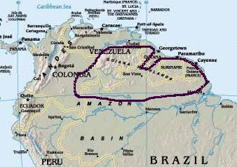 Where Is The Guiana Highlands Located On A Map