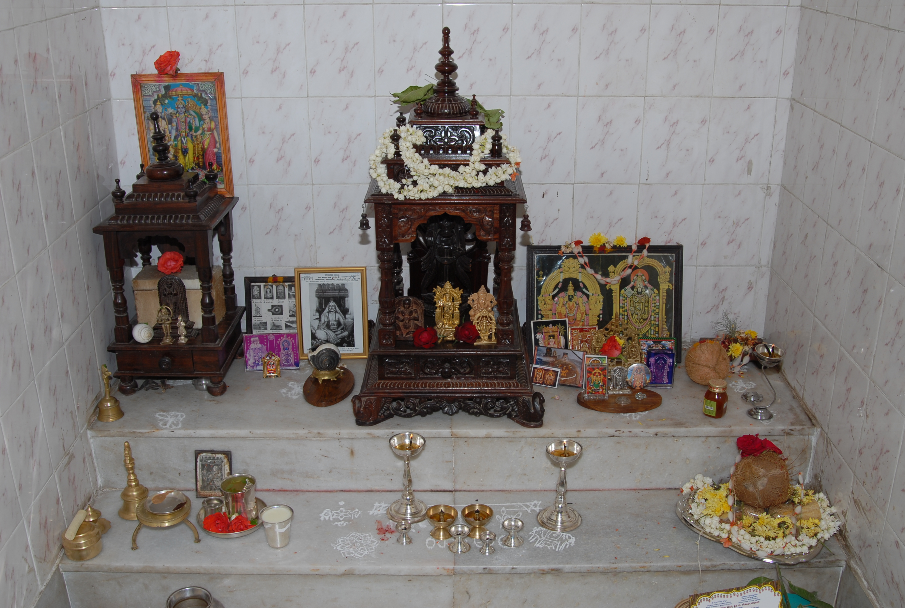 Pooja Room On The Wall