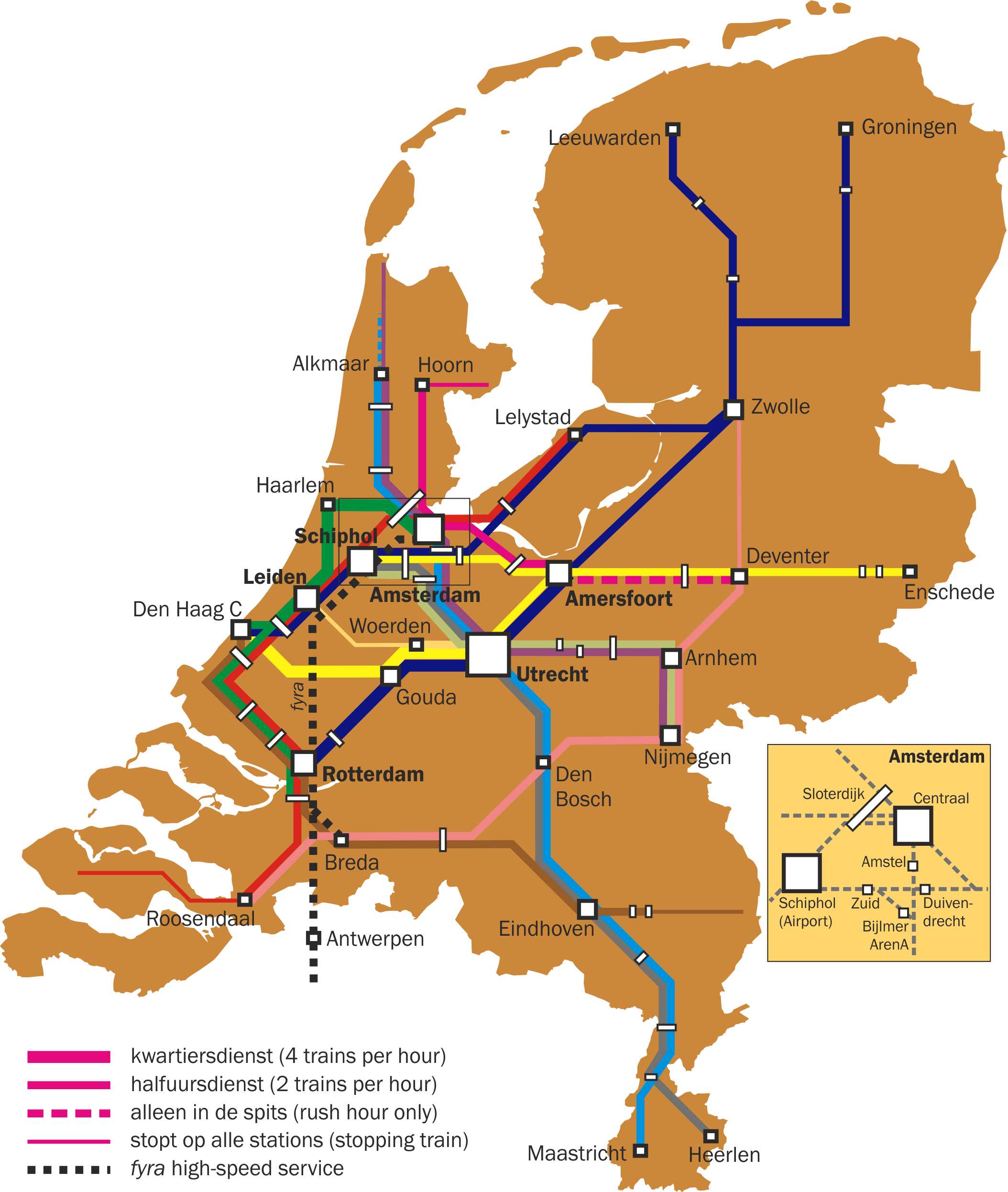 Netherlands Map Train