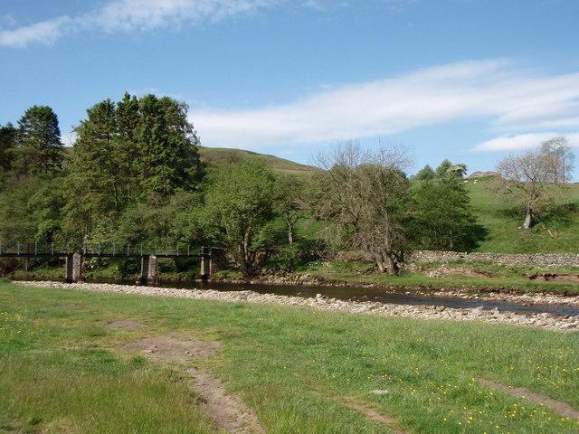 Isaac's Tea Trail, crossing River South Tyne at Kirkhaugh - geograph.org.uk - 1335697