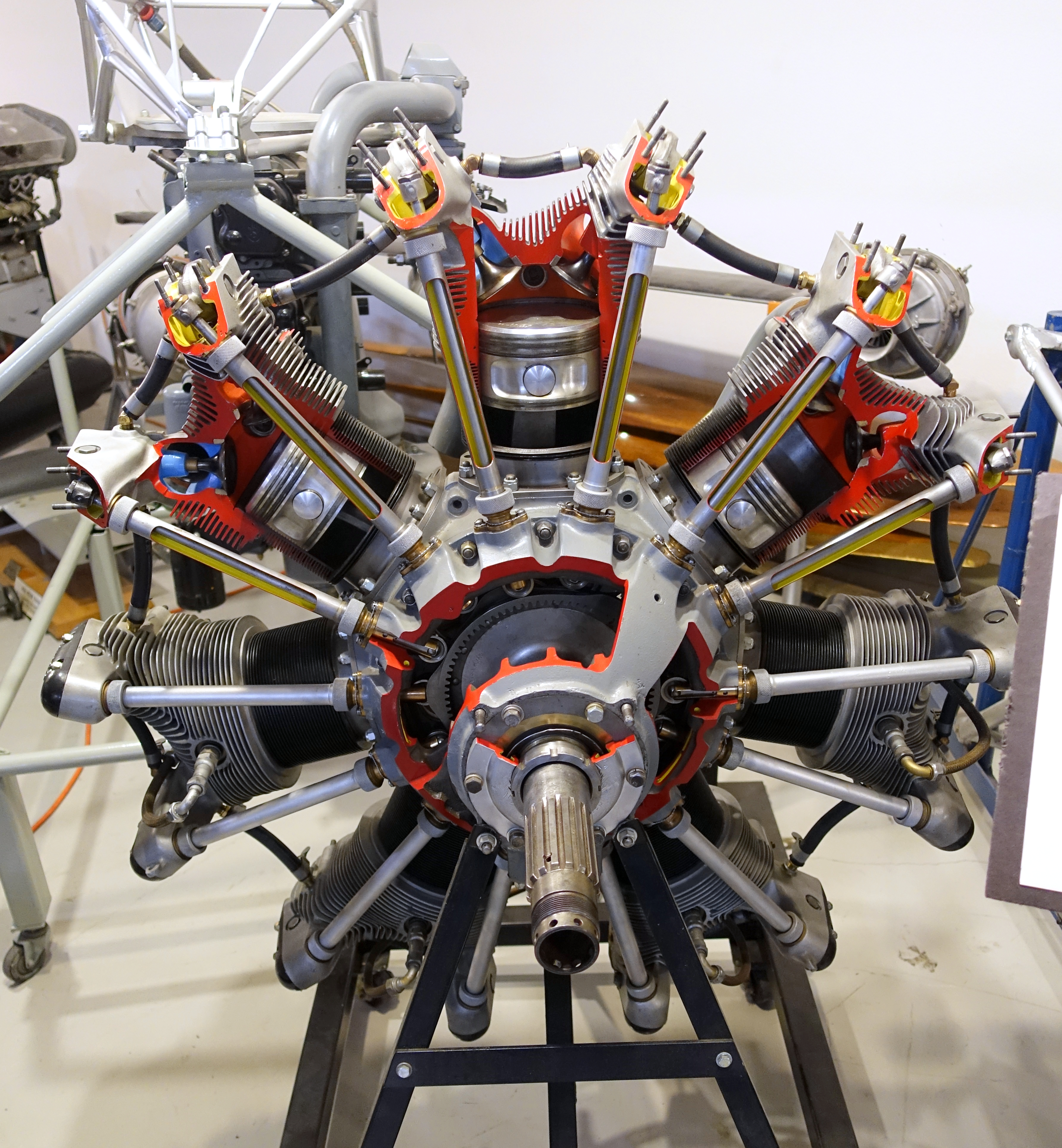 File:Jacobs R-755 7-cylinder air cooled radial engine