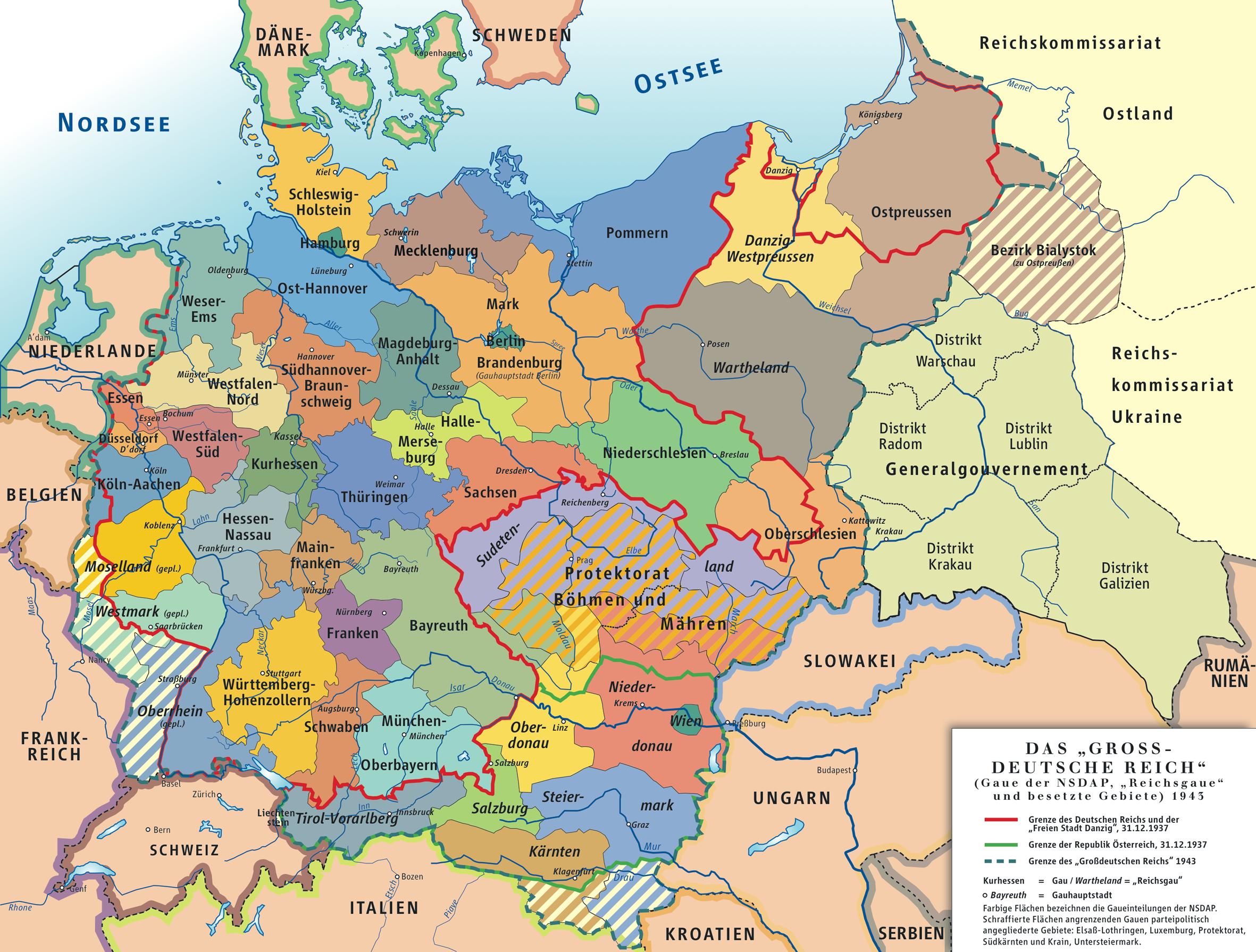 Karte Deutsches Reich 1942
