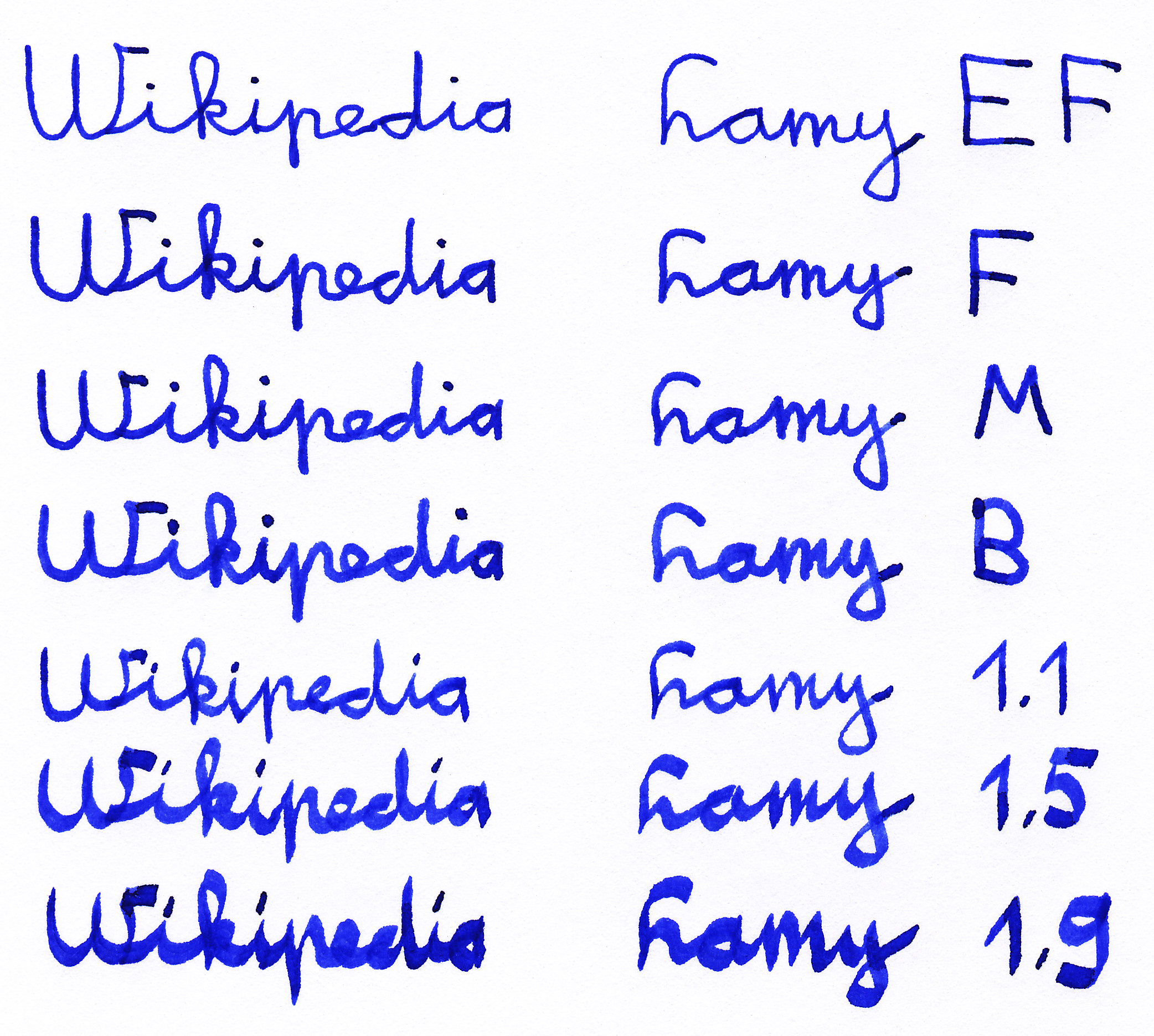 FileLamy Fountain Pen Writing Samples 2