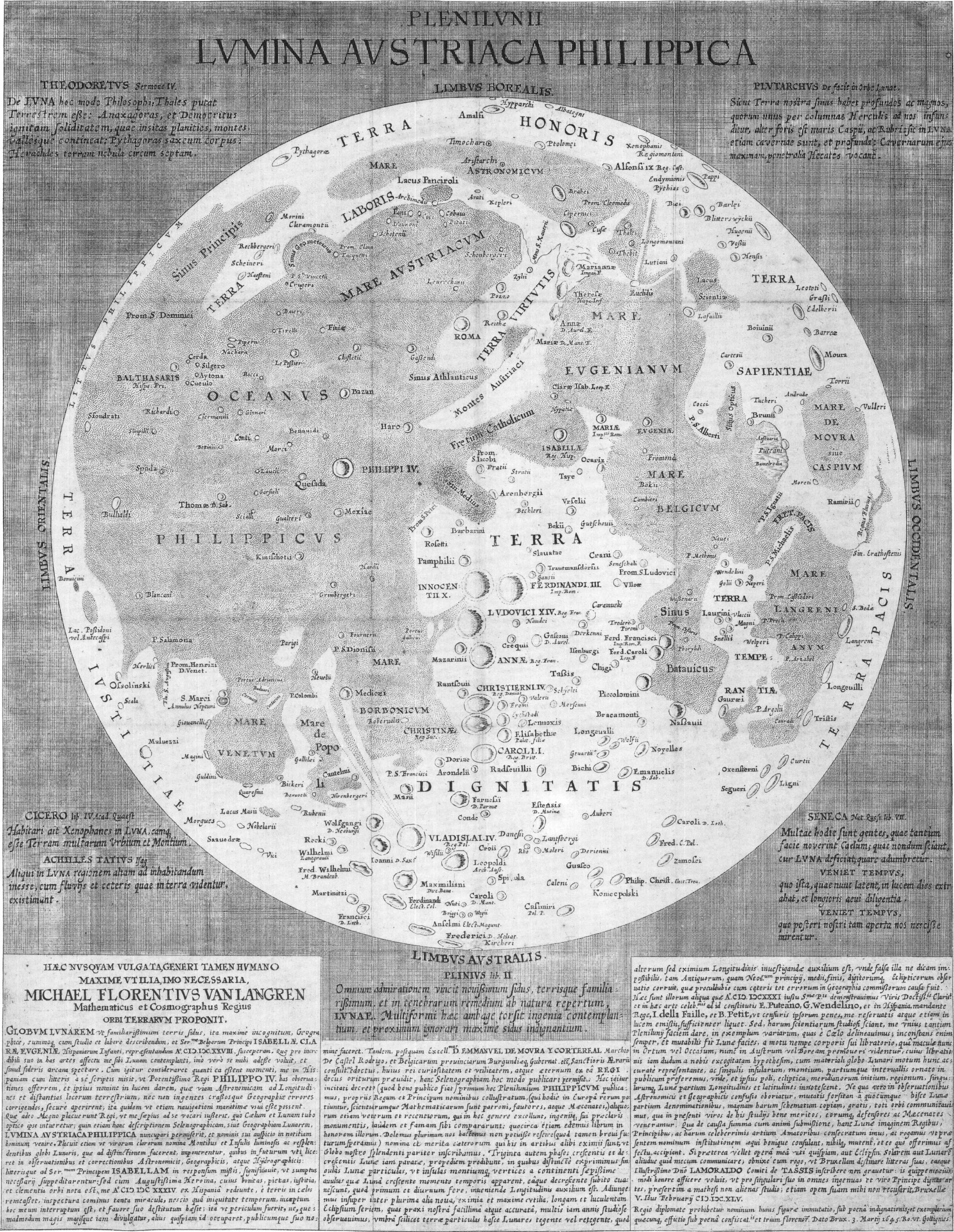 File:Langrenus map of the Moon 1645.jpg - Wikimedia Commons