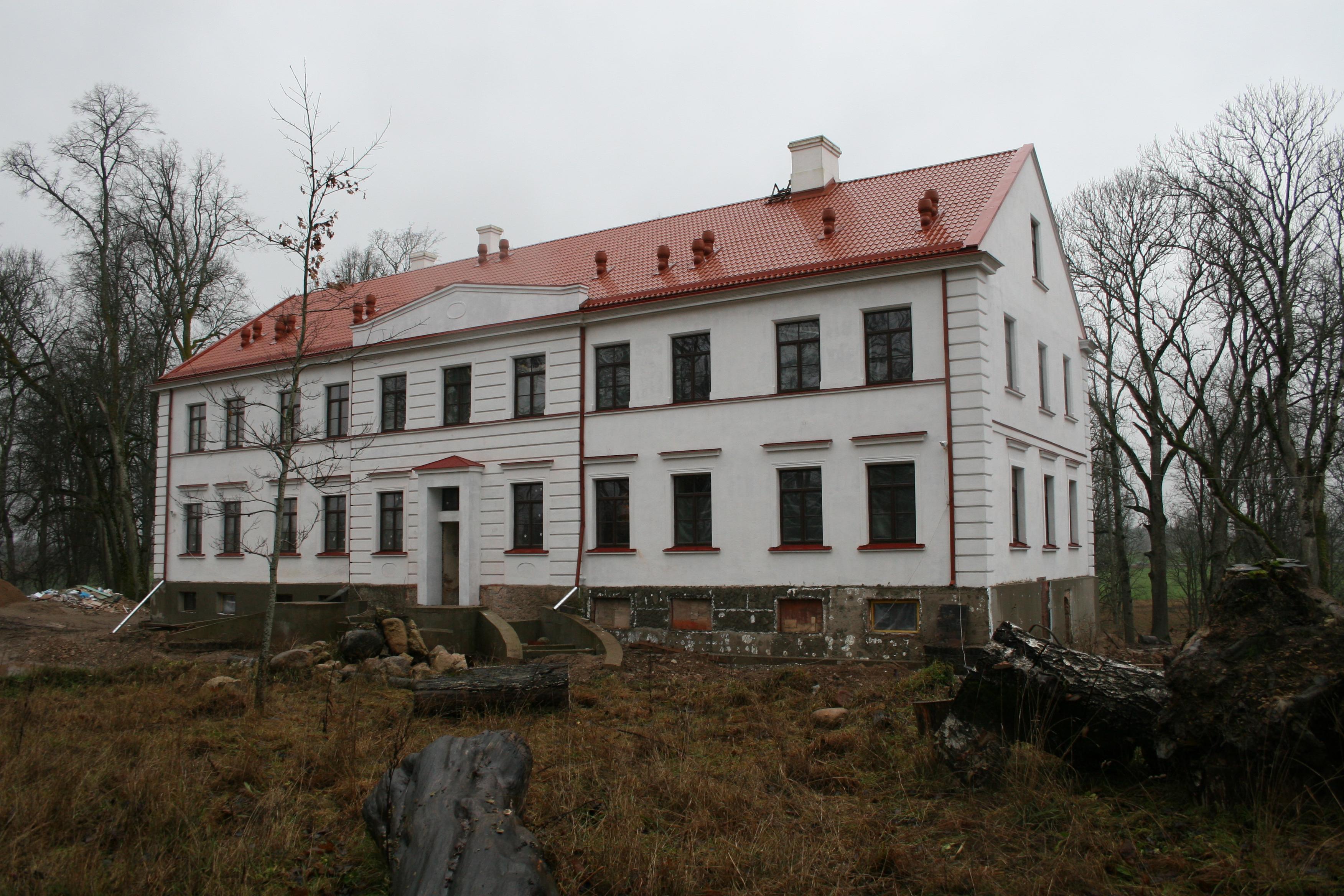 (Courland, Latvia), in renovation process - ainars brūvelis - Panoramio.jpg Lielvirbi manor AD1870 at 2006 (Courland, Latvia), in renovation process Date 19