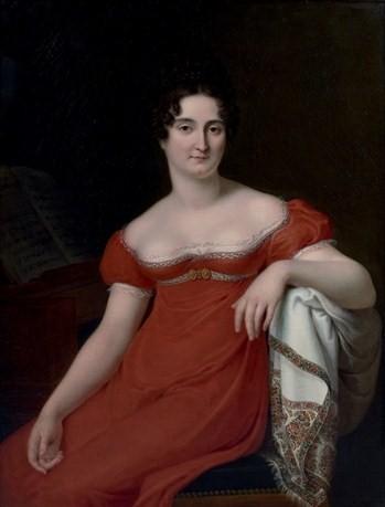 Корнелиус Грёнедаль. Портрет мадемуазель Жорж, 1813