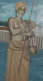 A Painting of the mid twentieth century which shows Pattathu Ayya, Payyan Chella Vadivu.