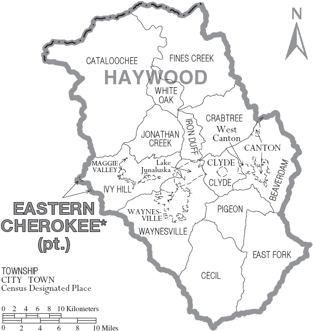 File:Map of Haywood County North Carolina With Municipal andhaywood county