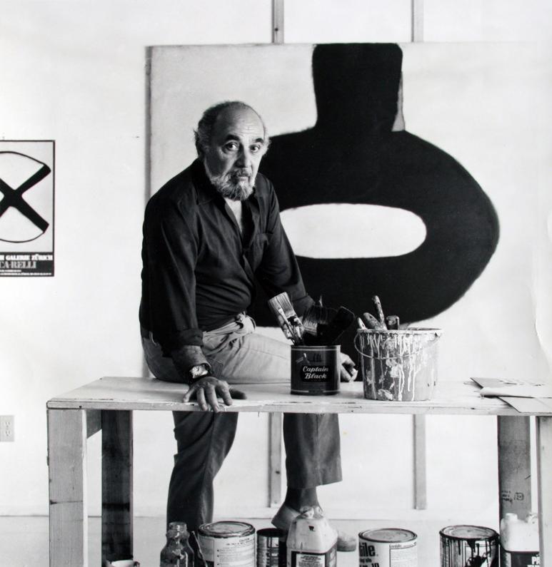 Conrad Marca-Relli in 1982 in his studio