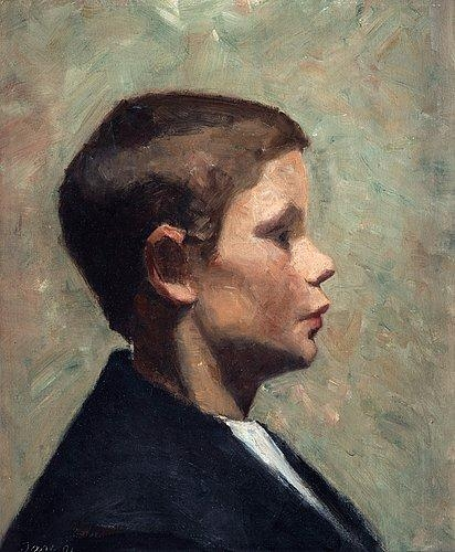 Marie Kroyer Young boy in profile