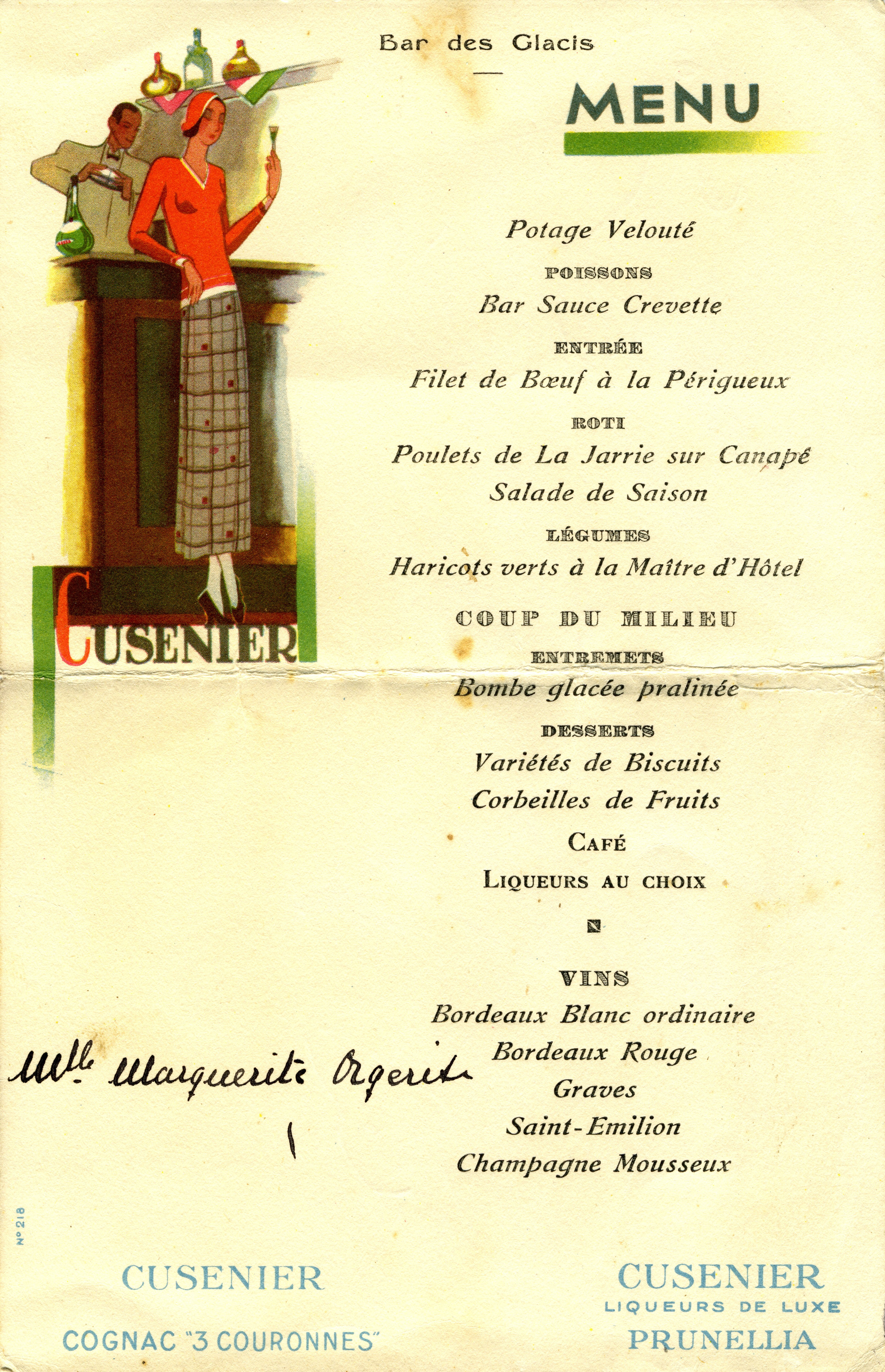 Menu Of Le Bistrot Paul Bert Restaurant In Paris
