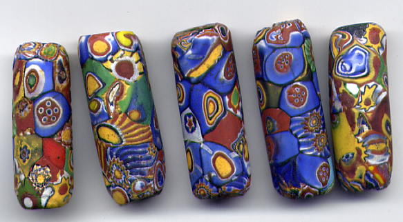 Millefiori beads, 1920s