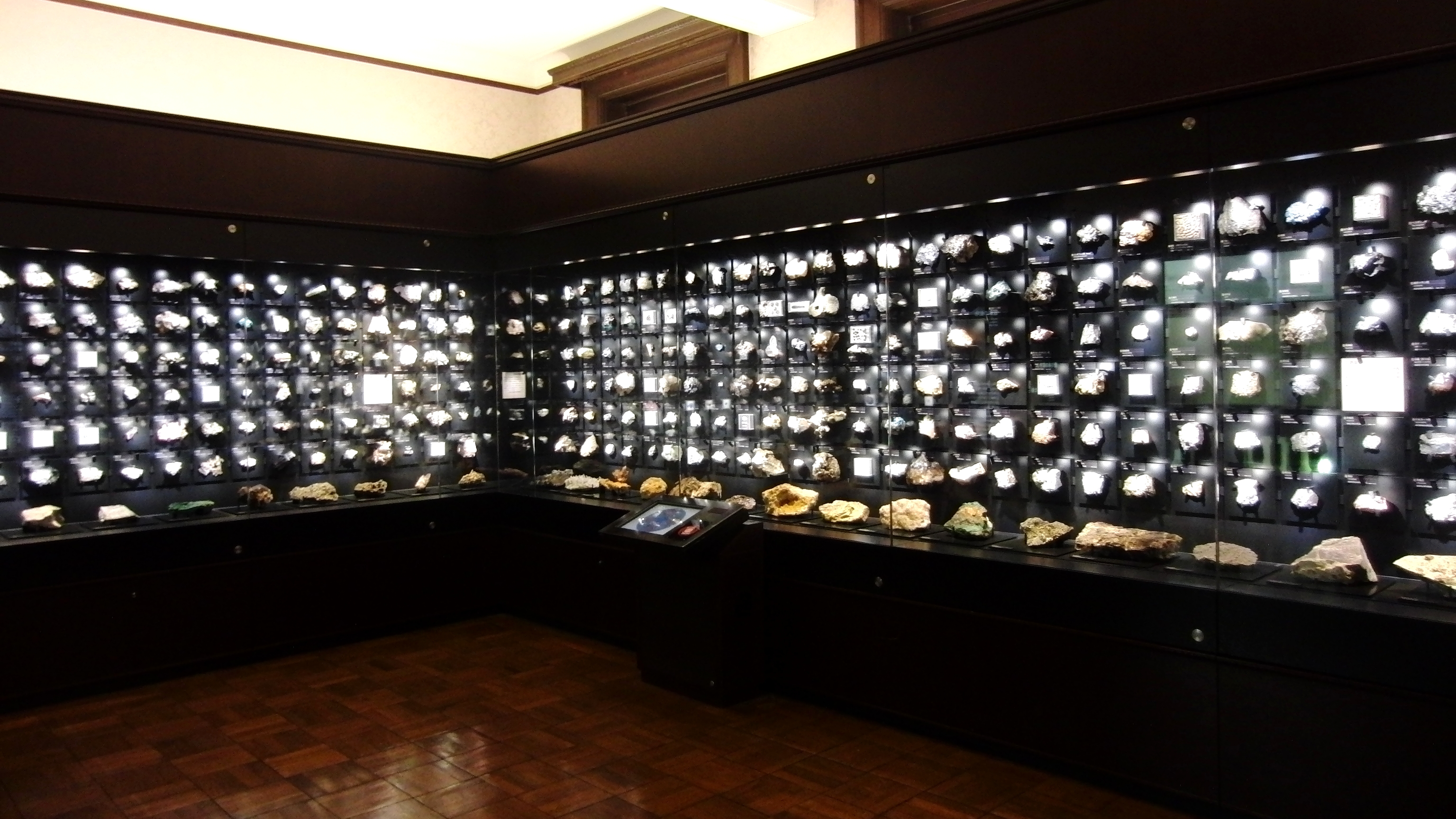 Exhibition Room D : File mineral exhibition room of the national museum