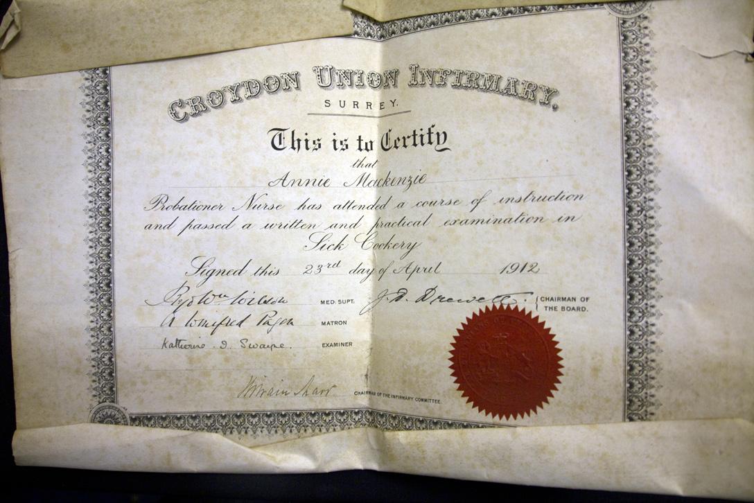 Filenursing Certificate Of Annie Burns Nee Mackenzieg