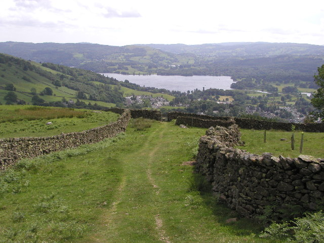 On the path down from Red Screes - geograph.org.uk - 10563