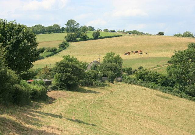 Pendean Farm from Dean Hill - geograph.org.uk - 908513