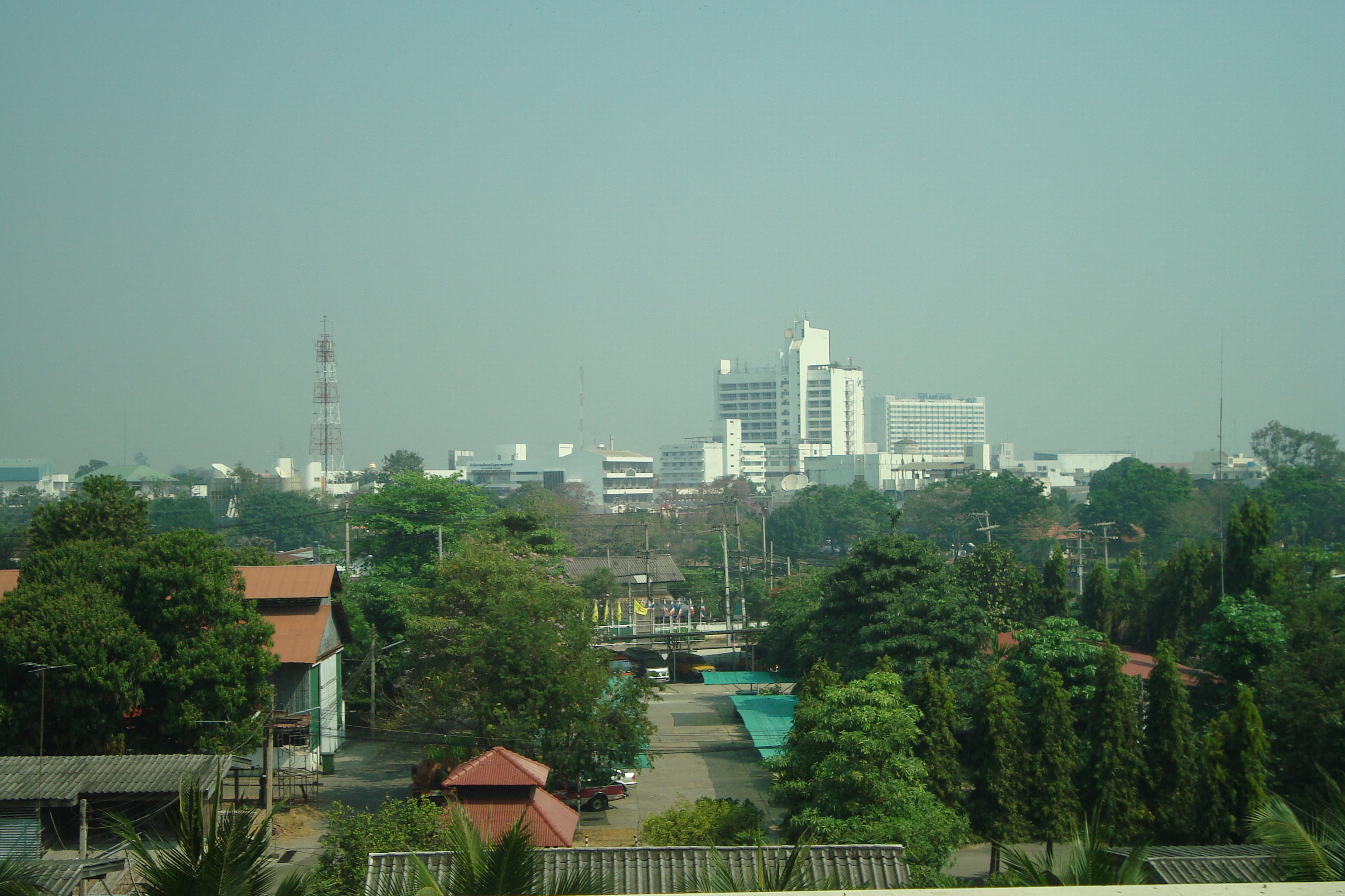 Phitsanulok Thailand  City new picture : The Phitsanulok skyline from the Grand Riverside Hotel