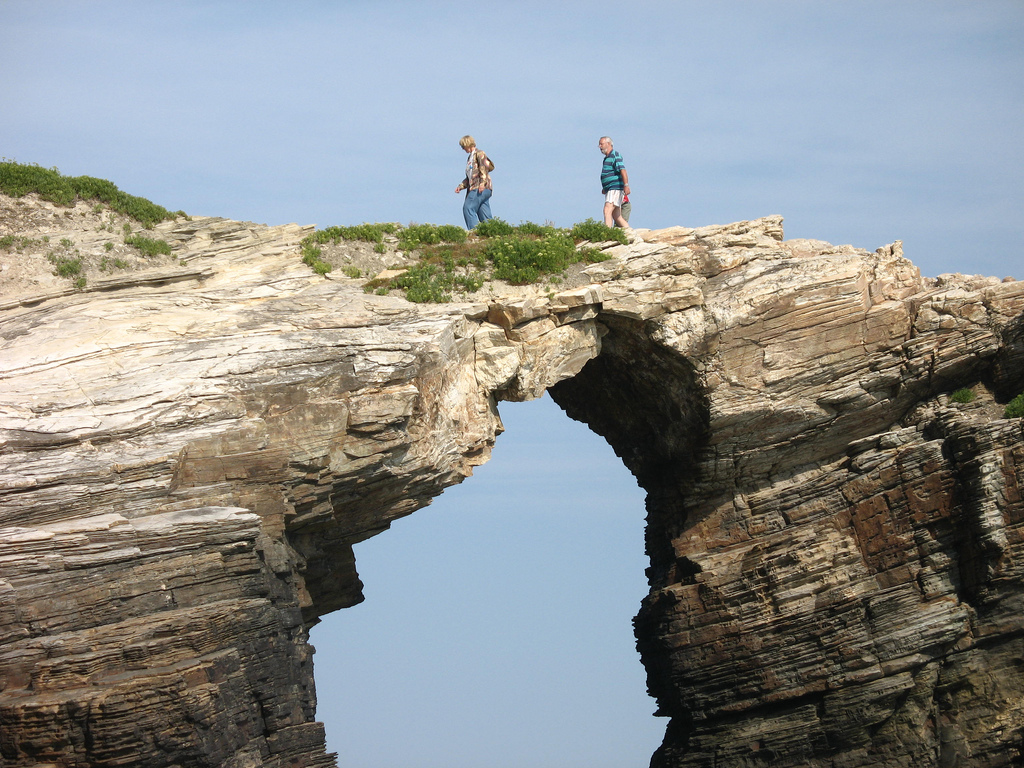 Natural Stone Archway To Water