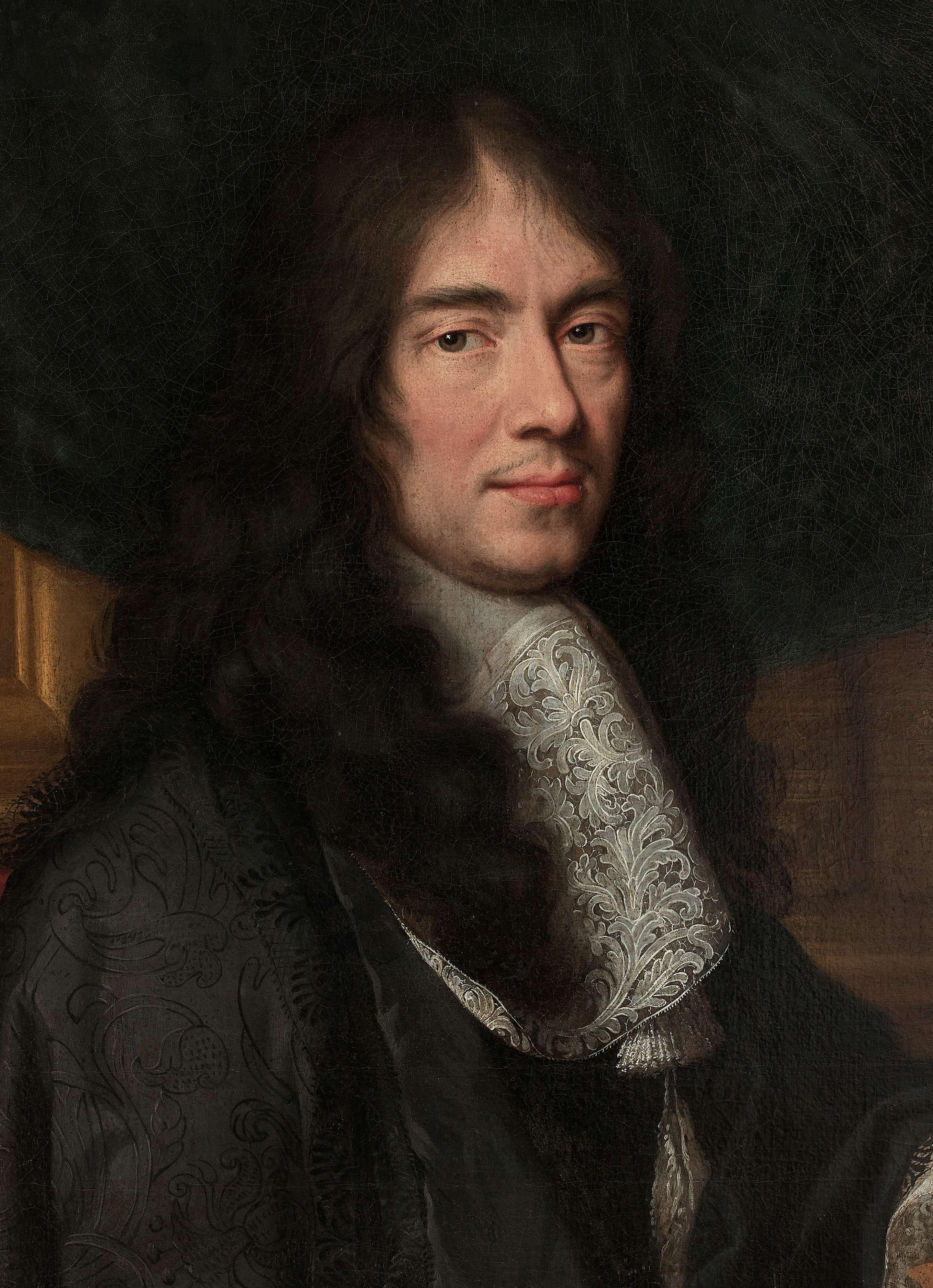 Portrait (detail) by [[Charles Le Brun]]