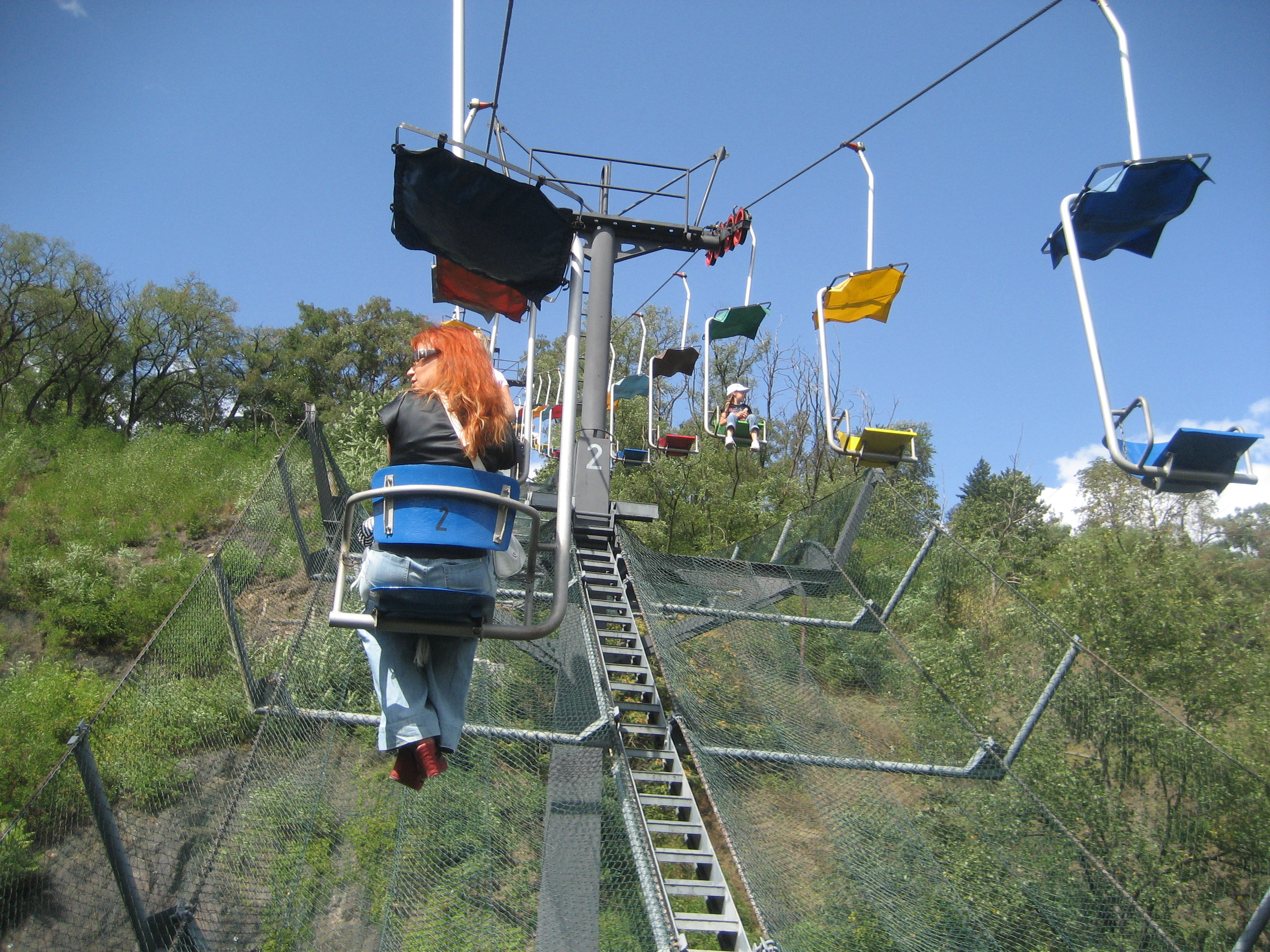 File:Prague Zoo  Chairlift  Passengers View 29Aug2009
